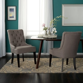 Abbyson Bella Grey Fabric Dining Chair