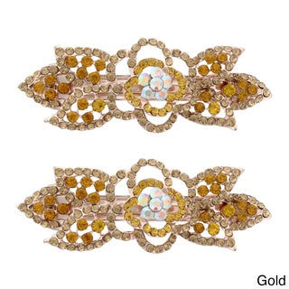 Moda Rose Bud Multicolor Metal Baby Barrettes (Set of 2) (More options available)