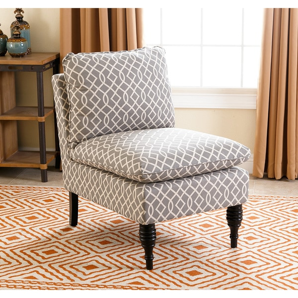 Shop Abbyson Bonnie Grey Swirl Slipper Chair Free