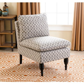 ABBYSON LIVING Bonnie Grey Swirl Slipper Chair