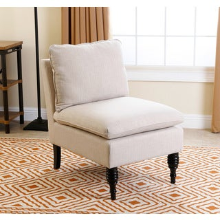 ABBYSON LIVING Bonnie Cream Slipper Armless Chair