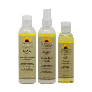 Jane Carter Healthy Hair Shampoo, Leave-in Conditioner, and Complex 4 Oil 3-piece Set
