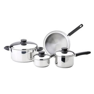 Kinetic GoGreen Kitchen Basics 7-Piece Stainless Steel Cookware Set
