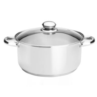 Kinetic GoGreen Classicor Stainless Steel 5.5-quart Covered Dutch Oven with Glass Lid
