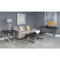 Stainless Steel Base Grayson End Table