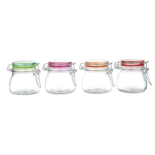 Kinetic GoGreen Glass 4.90-ounce Four-piece Mini Jar Set