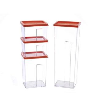 Kinetic GoGreen StackSmart 9-Piece Rectangular Stackable Food Storage Container Set