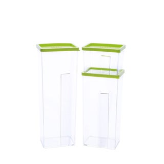 Kinetic GoGreen StackSmart 7-piece Rectangular Stackable Food Storage Container Set