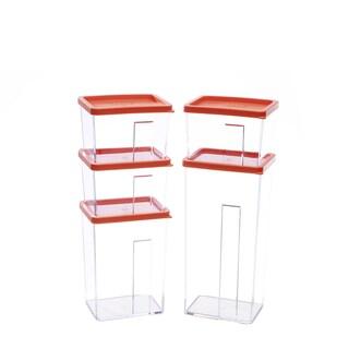 Kinetic GoGreen StackSmart 10-Piece Rectangular Stackable Food Storage Container Set with Lid