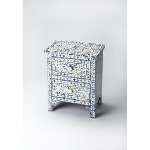 Butler Vivienne Blue Bone Inlay Accent Chest