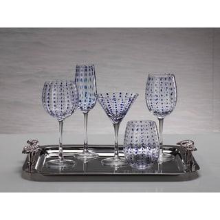 Blue Dot Champagne Glass set