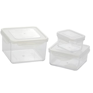 Kinetic GoGreen Tritan 6-piece Rectangular and Square Lunch Box Set With Lid