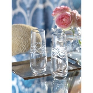 Rope Design Champagne Glass set