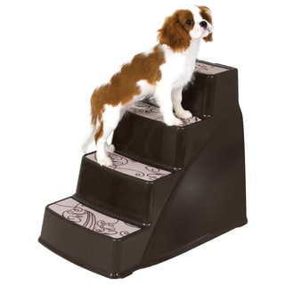 Petmate Steps II Brown Plastic Lightweight Pet Stairs