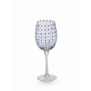 Blue Dots Wine Set of 6