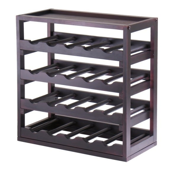 Porch & Den Dilworth Romany Wood Stackable, Removable Tray Storage Wine Cube