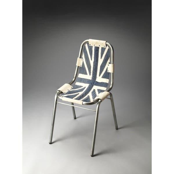 Super Shop Butler Shelton Denim Side Chair Free Shipping Today Theyellowbook Wood Chair Design Ideas Theyellowbookinfo