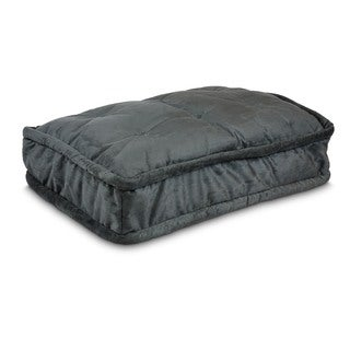 Snoozer Luxury Black Microfiber and Polyester Pillow Top Dog Bed