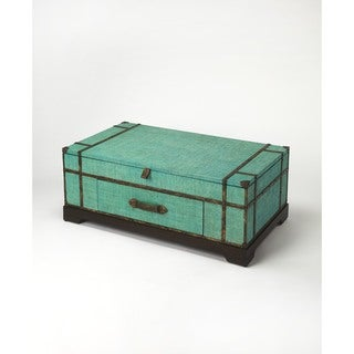 Butler Anabel Green Raffia Trunk Cocktail Table