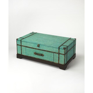 Handmade Butler Anabel Green Raffia Trunk Cocktail Table (Philippines)