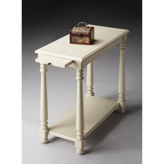 Butler Devane Cottage White Chairside Table