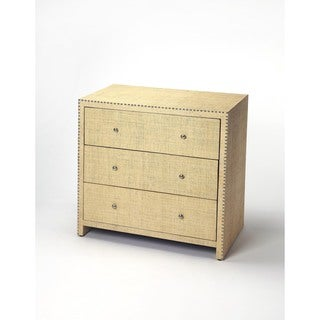 Butler Danilo Cream Raffia Console Chest