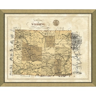 Framed Map of Wyoming