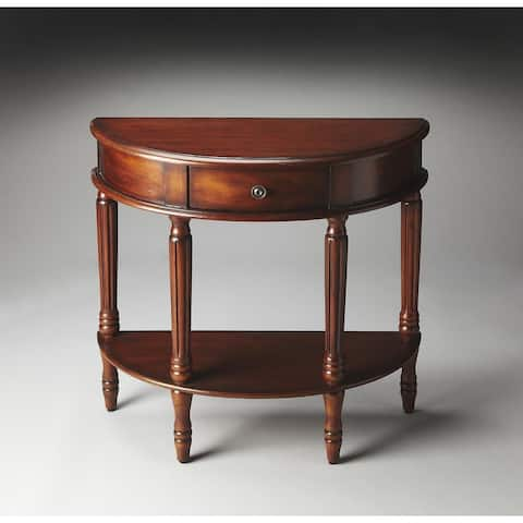 Butler Mozart Madrid Brown Demilune Console Table