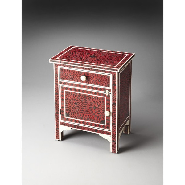 Genial Butler Kayla Bone Inlay Chairside Chest
