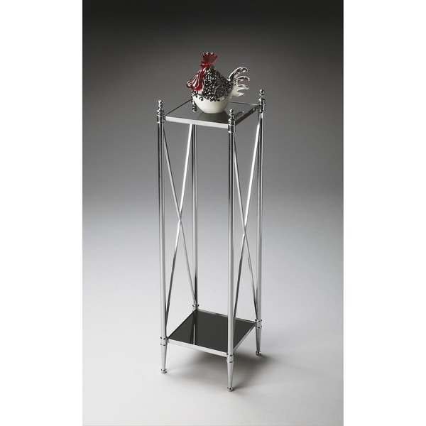 Butler Nickel Pedestal Plant Stand Free Shipping Today 12079219