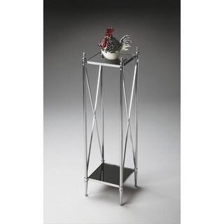 Butler Nickel Pedestal Plant Stand