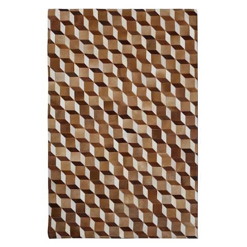 Handmade Indo Butler Guthrie Hair-On-Hide Area Rug (8' x 10') - 8' x 10'/Surplus