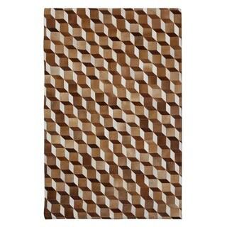 Handmade Indo Butler Guthrie Hair-On-Hide Area Rug (8' x 10')