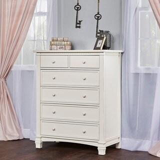 Evolur Cheyenne Santa Fe Collection White Wood Six-drawer Dresser