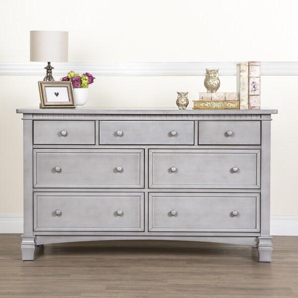 Evolur Cheyenne And Santa Fe Grey Wood Double Dresser