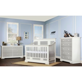 Evolur Parker Two-tone Wood 5-in-1 Convertible Crib