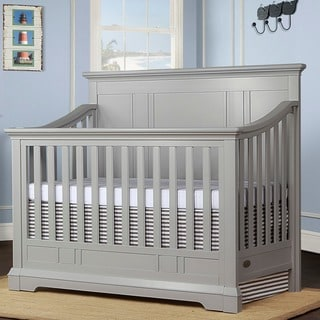 Evolur Parker Grey Wood 5-in-1 Convertable Crib