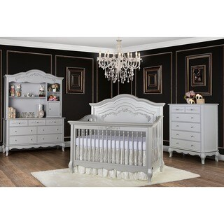 Evolur Aurora 5 in 1 Convertible Crib - Grey