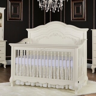 Evolur Aurora Cream Wood 5-in-1 Convertible Crib