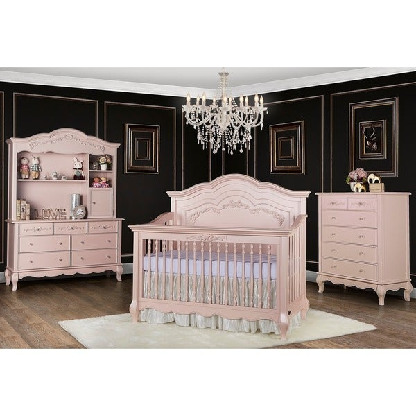 Shop Evolur Aurora 5 In 1 Convertible Crib Pink Free