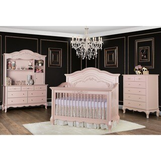 Evolur Aurora 5 in 1 Convertible Crib - Pink