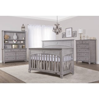 Evolur Santa Fe Grey Finish Wood Five-in-one Convertible Crib