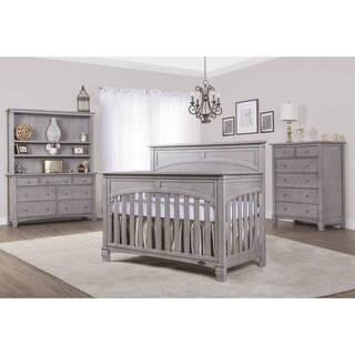 Evolur Santa Fe Storm Grey 5-in-1 Convertible Crib