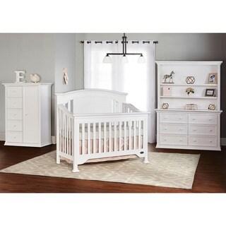 Evolur Sawyer White Finish Wood 5-in-1 Convertible Crib