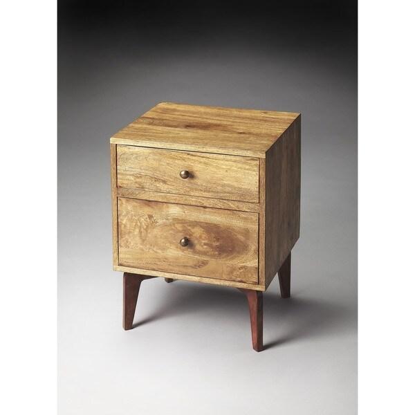shop butler nuance loft rectangular chairside chest light brown