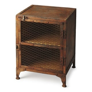 Handmade Butler Lucas Industrial Chic Side Table Chest (India)
