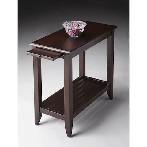 Handmade Butler Irvine Merlot Chair End Table