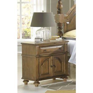 Brown Wood Door Nightstand