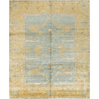 Langenworth Blue Oushak Rug (8'2 x 9'11)