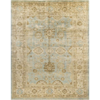 Haven Green Blue Oushak Wool Rug (8'1 x 10')